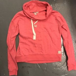 Coral funnel neck American Eagle sweat shirt knit